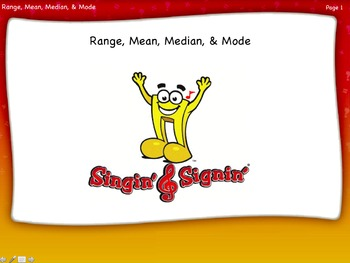 Range, Mean, Median, and Mode Lesson by Singin' & Signin'