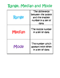 Range, Median and Mode Cheat Sheet
