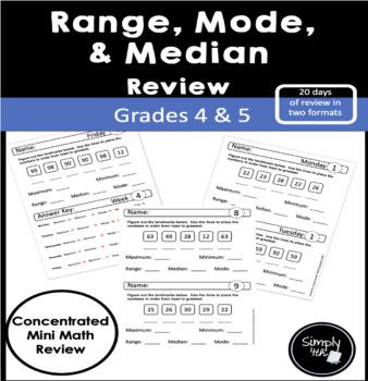 Range, Mode and Median