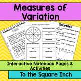 Range, Quartiles & Measures of Variation Interactive Notebook