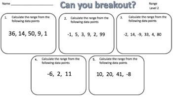 Range – Two Breakout Activities!