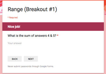 Range – Two Breakout Activities - Perfect for Google Classroom!