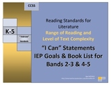 Range of Reading and Text Complexity 2-3/4-5 Band Book Lis