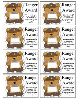 Ranger Award! Behavior raffle tickets