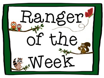 Ranger of the Week (A Forest Themed Student of the Week)