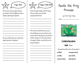 Ranita the Frog Princess Trifold - Treasures 4th Grade Uni