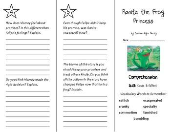 Ranita the Frog Princess Trifold - Treasures 4th Grade Unit 5 Week 2 (2009)