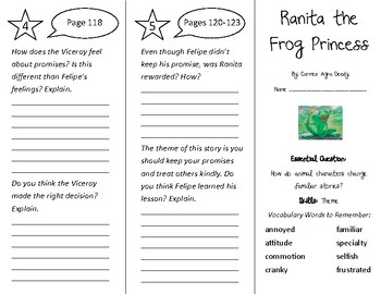 Ranita the Frog Princess Trifold - Wonders 4th Grade Unit