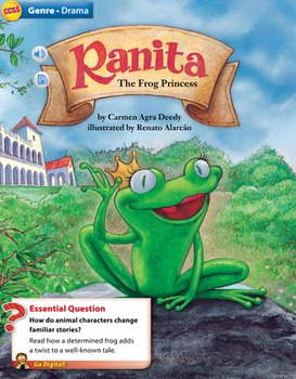 Ranita the Frog Princess Trifold - Wonders Fourth Grade/ Study guide/lit circles