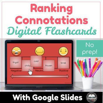 Ranking Connotations Digital Manipulative Flashcards