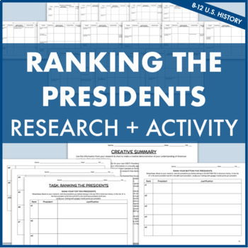 Ranking the Presidents: Research + Creative Activity for Presidential Legacies