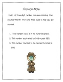 Ransom Note - place value activity