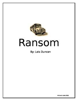 Ransom Novel Study Unit