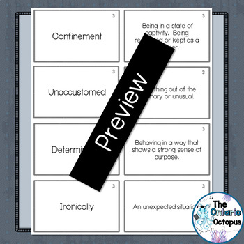 Ransom by Lois Duncan - Chapter 3 Vocabulary Matching Cards