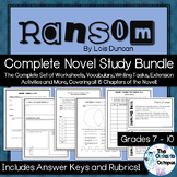 Ransom by Lois Duncan - Complete Novel Study Bundle