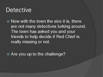 Ransom of Red Chief Lesson Activities