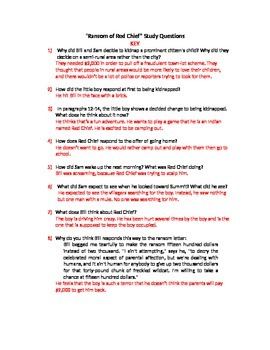 The Ransom of Red Chief Study Guide