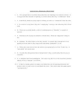 Ransom of Red Chief Vocabulary Quiz Worksheet