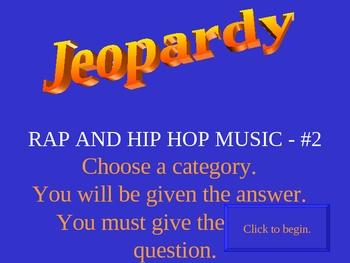 Rap Hip Hop Jeopardy #2