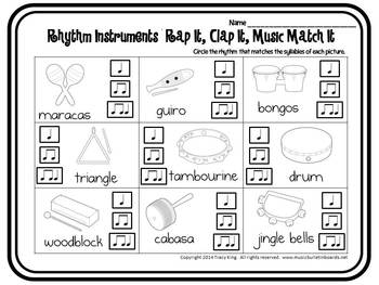 Rap It, Clap It, Music Match It:  Rhythm Instruments Edition