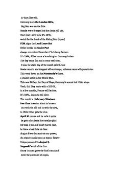 Rap: World War II Timeline Rap