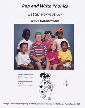 Rap and Write Phonics Verses and Directions Pre K-3