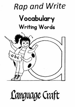 Rap and Write Vocabulary Writing Words Pre K-3