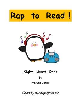 """Rap to Read"" Sight Word Raps PDF File 51 pages long"