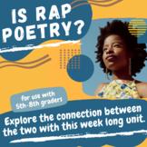 Rap vs Poetry: A Musical Literacy Unit