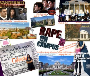 Rape - College Campus - UVA - Columbia - Duke - Vanderbilt et al FREE POSTER