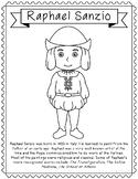 Raphael Sanzio, Famous Artist Informational Text Coloring Page Craft