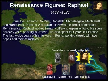 Raphael!  Visual, textual, engaging 17-slide PowerPoint
