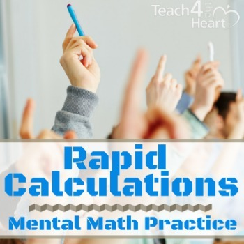 Rapid Calculations COMPLETE SET: mental math activity / math facts practice