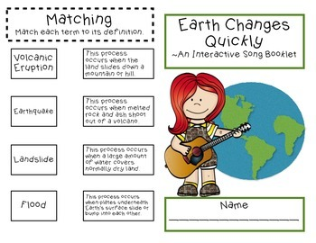 Rapid Changes to the Earth: Interactive Song Booklet