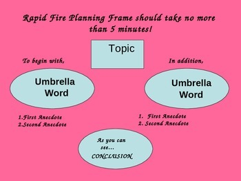 Rapid Fire! Expository Planning Frames