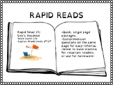 Rapid Reads #1 - Leo's Vacation - Passage and Questions