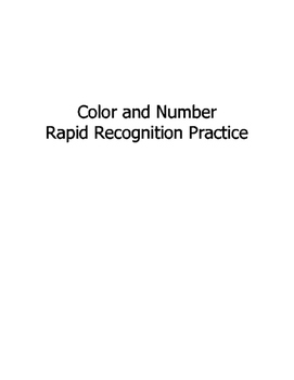 Rapid Recognition with Color and Numbers
