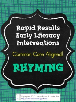 Rapid Results Early Literacy RHYMING Intervention