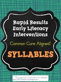 Rapid Results Early Literacy SYLLABLES Intervention