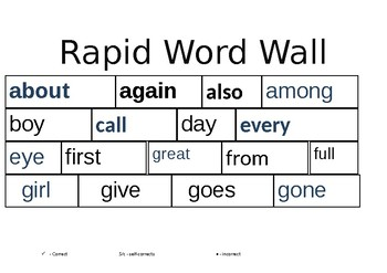 Rapid word wall