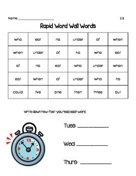 Rapid Words Unit 2