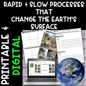 Rapid and Slow Process That Change Earths Surface