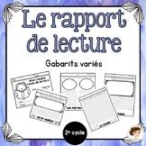 Rapport de lecture - Flip book