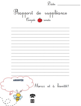 Rapport de suppléance minimaliste