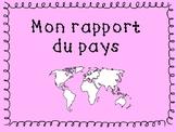Rapport du Pays (Country Report Lapbook - Francais)