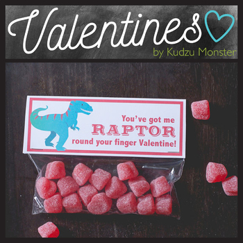 Raptor Valentine Treat Topper