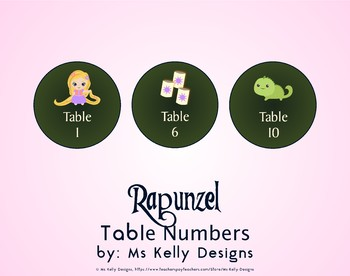 Rapunzel 1-6 Table Numbers