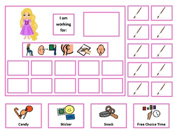 Rapunzel 10 Token Board with Behavioral Visuals