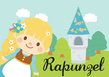 NO PREP! Rapunzel Fairy Tales Story and Coloring Book