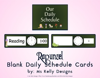 Rapunzel Blank Daily Schedule Cards